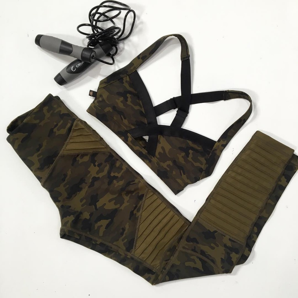 Bootcamp essentials  Lovers Army Moto Legging and Crop Taghellip