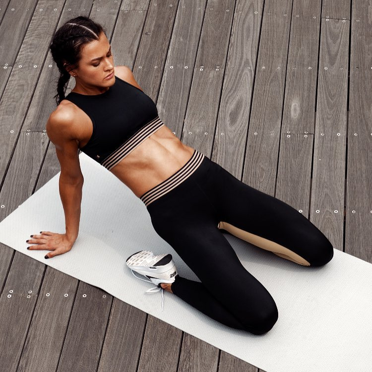 Weekend workouts oliviaorchowski stretching it our Im Essential Legging andhellip